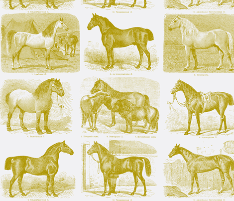 All those Pretty Horses fabric by danibrighton on Spoonflower - custom fabric