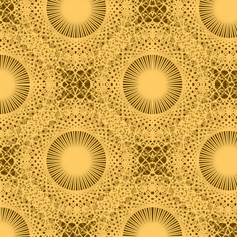 Helios Suns - Golden fabric by telden on Spoonflower - custom fabric