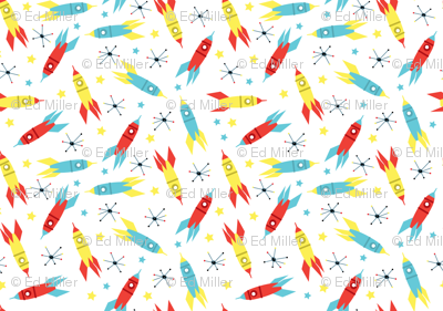 Space Rockets White