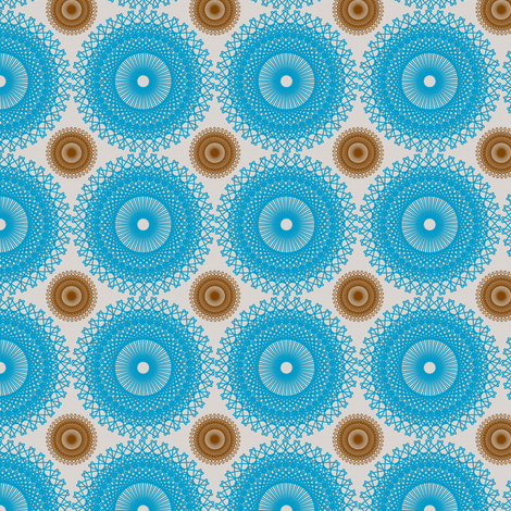 Earth and Sky Dots - Sky Blue fabric by telden on Spoonflower - custom fabric