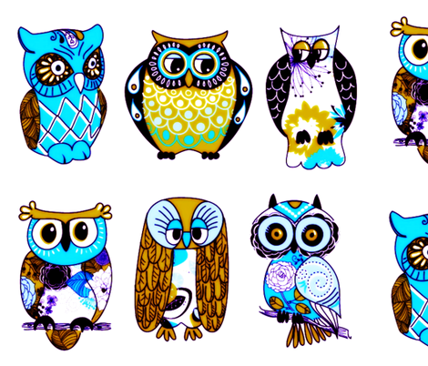 who who owls fabric by nascustomwallcoverings on Spoonflower - custom fabric