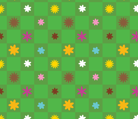 Fairytale flowers fabric by edward_elementary on Spoonflower - custom fabric