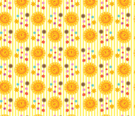 Fairytale Sunshine fabric by edmillerdesign on Spoonflower - custom fabric