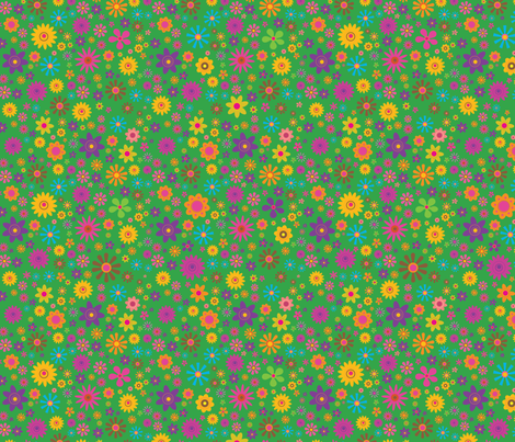 Fairytale Flower Pattern fabric by edmillerdesign on Spoonflower - custom fabric
