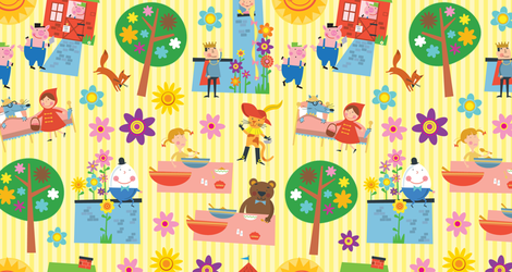 Fairytale Garden fabric by edmillerdesign on Spoonflower - custom fabric