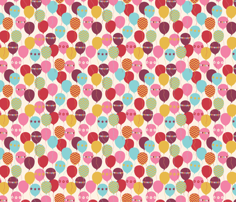 BALLOONS_IVORY fabric by natasha_k_ on Spoonflower - custom fabric