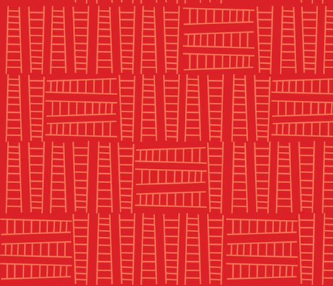 Fire Ladders Red fabric by edmillerdesign on Spoonflower - custom fabric