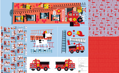 Firemen Bedroom Accessories fabric by edward_elementary on Spoonflower - custom fabric
