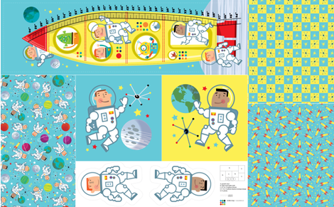 Space Bedroom Accessories fabric by edward_elementary on Spoonflower - custom fabric