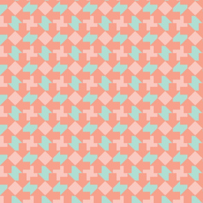 Coral Mint Tesselate