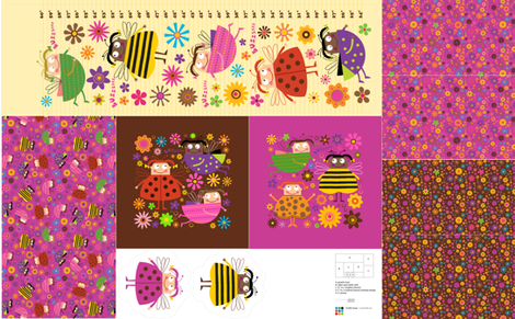 Ladybugs Bedroom Accessories fabric by edmillerdesign on Spoonflower - custom fabric