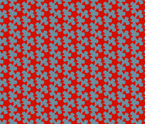 Abstract Cutout - Red fabric by telden on Spoonflower - custom fabric