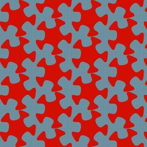 Abstract Cutout - Red