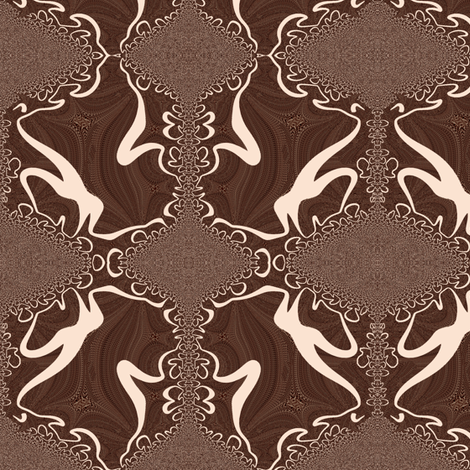 Wild Mushroom Synthesis fabric by telden on Spoonflower - custom fabric