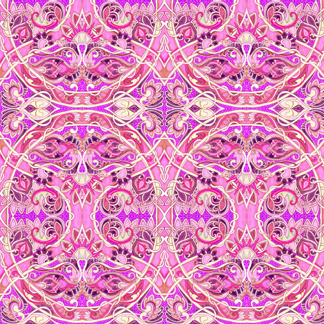 Sweethearts (in pink) fabric by edsel2084 on Spoonflower - custom fabric
