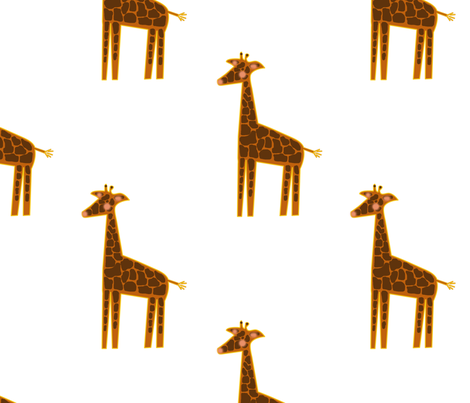 giraffe fabric by suziwollman on Spoonflower - custom fabric