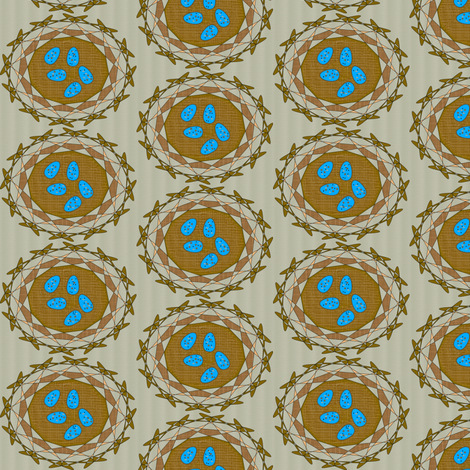 Robin's Nest Eggs - Warm Graytone - Small fabric by telden on Spoonflower - custom fabric
