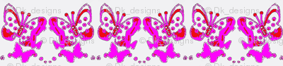 Butterflies in purple and pink a1