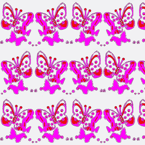 Butterflies in purple and pink a1 fabric by dk_designs on Spoonflower - custom fabric