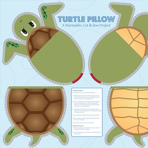 Turtle Pillow - Cut &amp; Sew