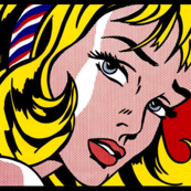 pop art comic girl vintage retro