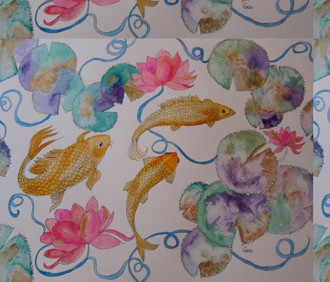 IMG_2333fish fabric by geaausten on Spoonflower - custom fabric