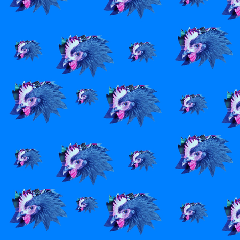 MaudeStar Blue fabric by taztige on Spoonflower - custom fabric