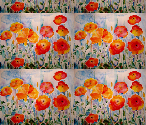 wild_poppy_field_by_geaausten-d5um4b7 fabric by geaausten on Spoonflower - custom fabric