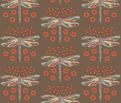 Dragonflies fabric by milkshakecrafts*lisa on Spoonflower - custom fabric