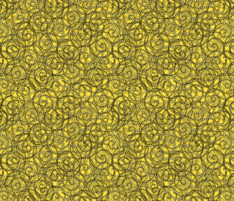 gypsy_swirls_lemon fabric by glimmericks on Spoonflower - custom fabric