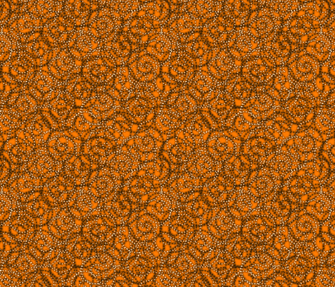 gypsy_swirls_orange fabric by glimmericks on Spoonflower - custom fabric