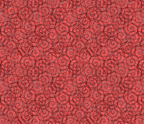 gypsy swirls coral fabric by glimmericks on Spoonflower - custom fabric