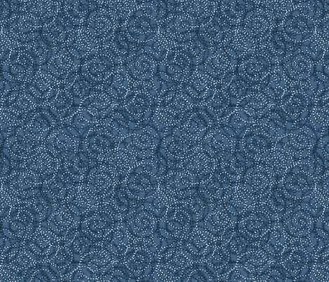 gypsy_swirls_denim fabric by glimmericks on Spoonflower - custom fabric