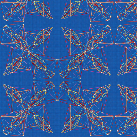 string_art_blue_canvas fabric by glimmericks on Spoonflower - custom fabric