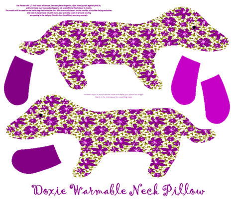 Doxie Warmable Pillow or Plushie