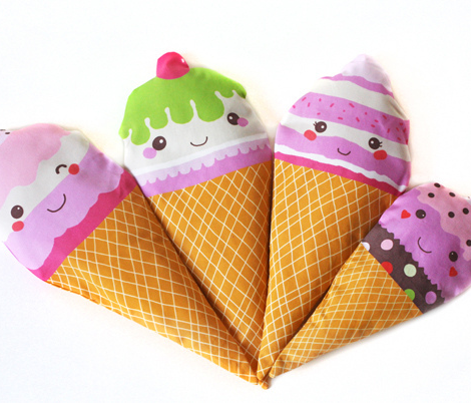 kawaii ice cream cones and cupcakes play softies food