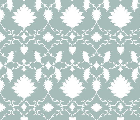 Paradise in Green-Blue fabric by sparrowsong on Spoonflower - custom fabric