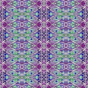 Ye Olde English Country Garden (delicate purple and green vertical stripe)