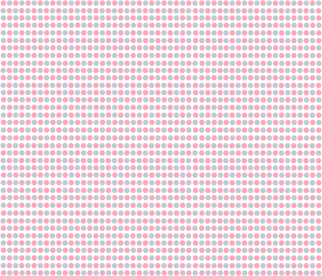 Pink & Gray Dots fabric by tulsa_gal on Spoonflower - custom fabric