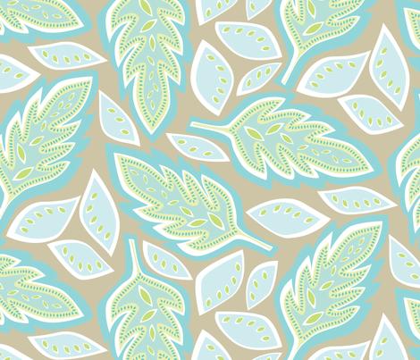 Big Leaves Sand fabric by jillbyers on Spoonflower - custom fabric