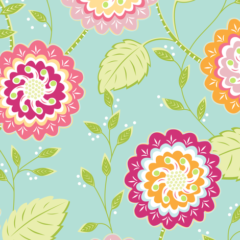 Rose Garden  fabric by jillbyers on Spoonflower - custom fabric
