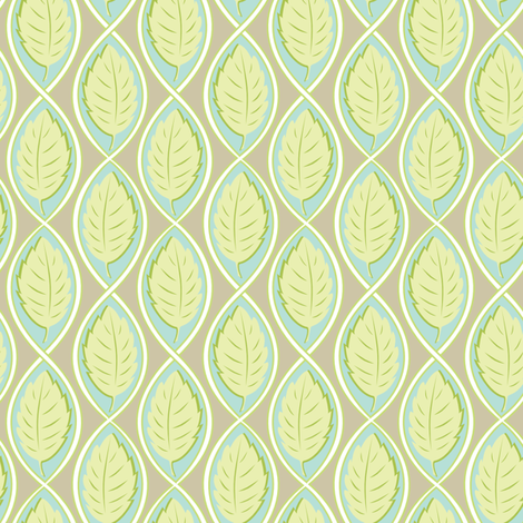 Leaf  Spiral fabric by jillbyers on Spoonflower - custom fabric