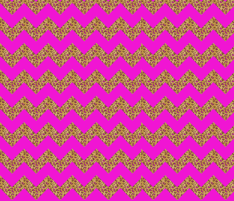 Chevron Cheetah hotpink fabric by parisbebe on Spoonflower - custom fabric
