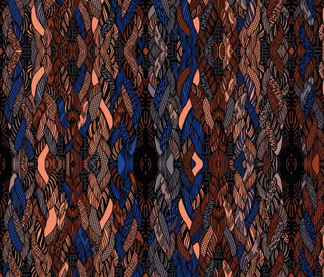 Braided Texture fabric by candyjoyce on Spoonflower - custom fabric