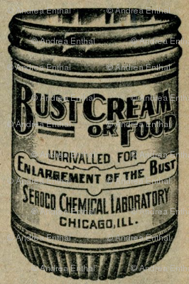 Bust Enlargement Cream or Food 1890's advertisement