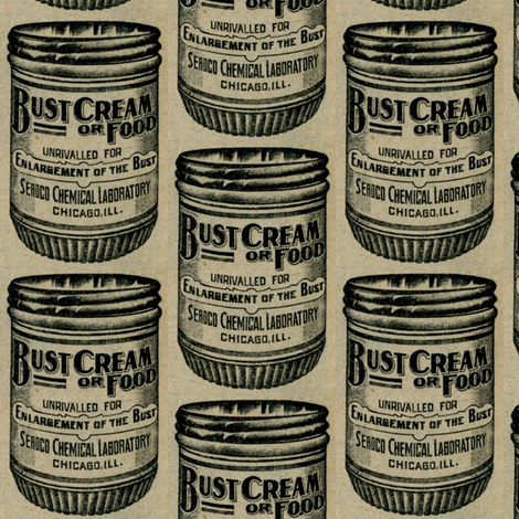 Bust Enlargement Cream or Food 1890's advertisement fabric by edsel2084 on Spoonflower - custom fabric