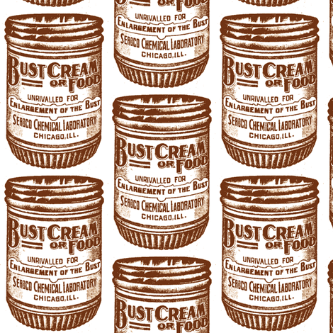 Bust Enlargement Cream 1890's advertisement in sepia fabric by edsel2084 on Spoonflower - custom fabric
