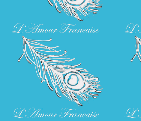 Peacock Feather Turquoise fabric by susifranco on Spoonflower - custom fabric
