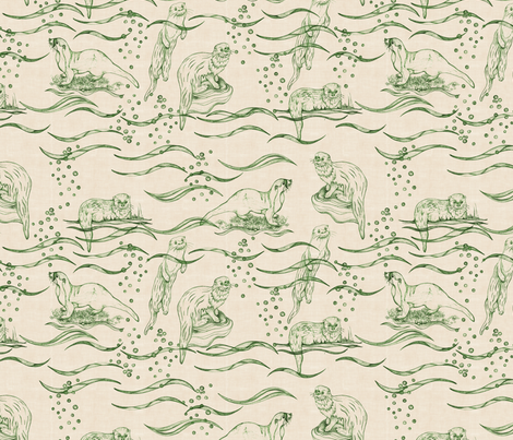 huillin_pattern_green fabric by kirpa on Spoonflower - custom fabric