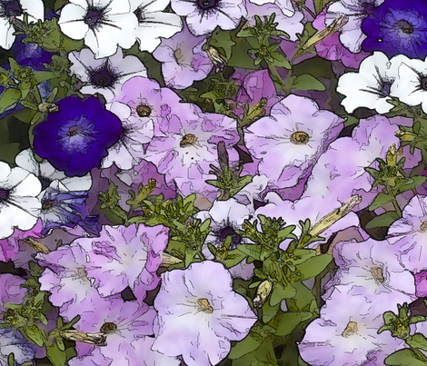 Petunias fabric by accio_fabric on Spoonflower - custom fabric